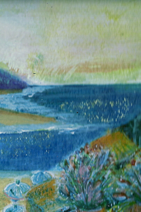 Lovely Painting - View From Balcony In Paradise by Anne-Elizabeth Whiteway