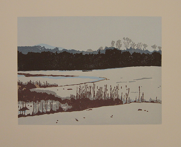 Landscape Drawing - View From Bramble Hill by Lori Hafner