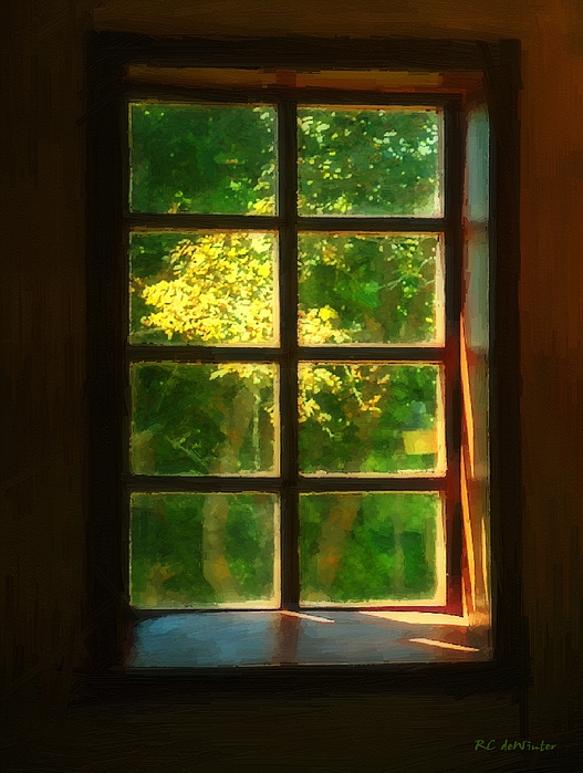 Autumn Painting - View From The Orwell Corner Church by RC DeWinter