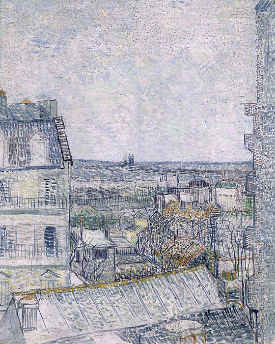 View Painting - View From Vincents Room In The Rue Lepic by Vincent van Gogh