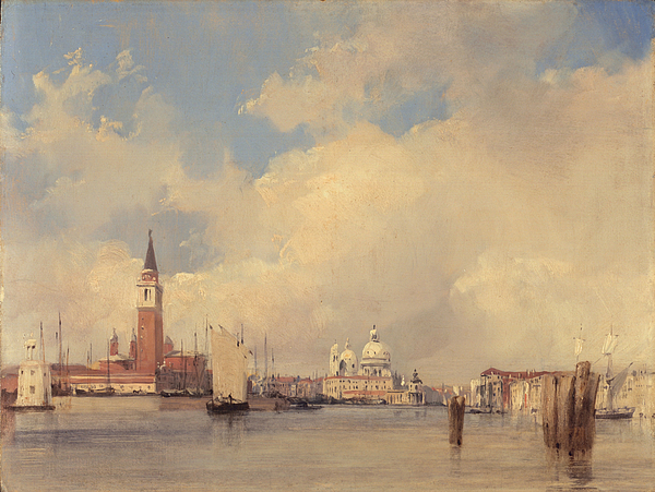 Italy Painting - View In Venice With San Giorgio Maggiore by Richard Parkes Bonington