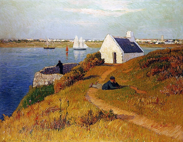 Henry Moret Painting - View Of Lorient In Brittany by Henry Moret