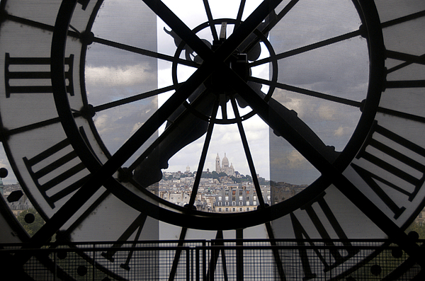 Paris Photograph - View Of Montmartre Through The Clock At Museum Orsay.paris by Bernard Jaubert