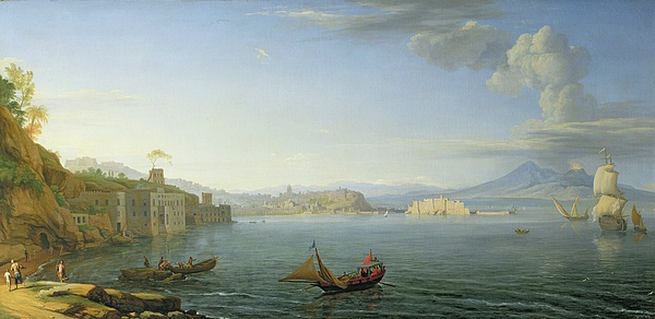 View Painting - View Of Naples by Adrien Manglard
