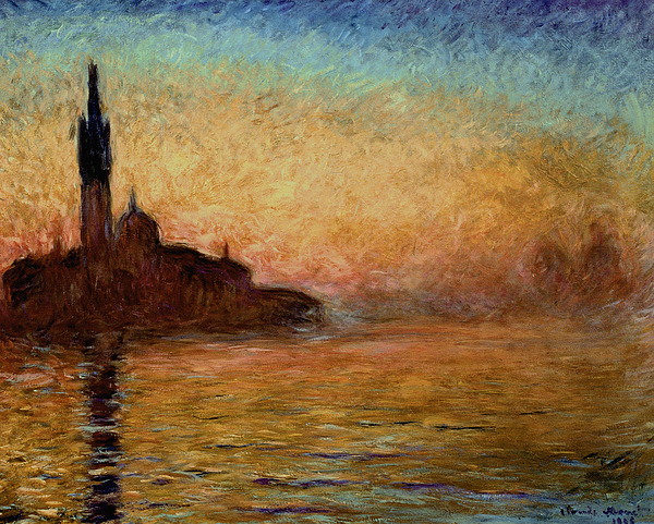 View Painting - View Of San Giorgio Maggiore Venice By Twilight by Claude Monet