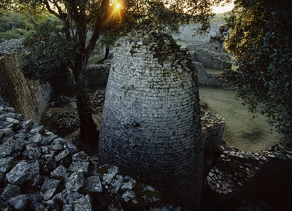 Ruins Photograph - View Of The 8th Century Conical Tower by James L. Stanfield
