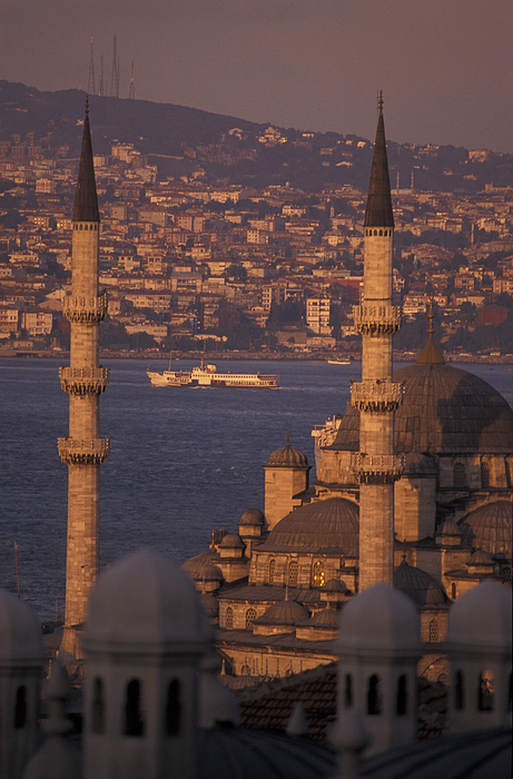 Istanbul Photograph - View Of The Golden Horn And Asia by Richard Nowitz