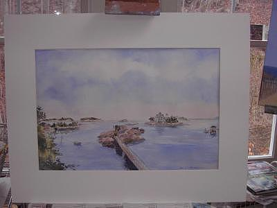 View Of Thimbles Painting by Maureen Wilkinson