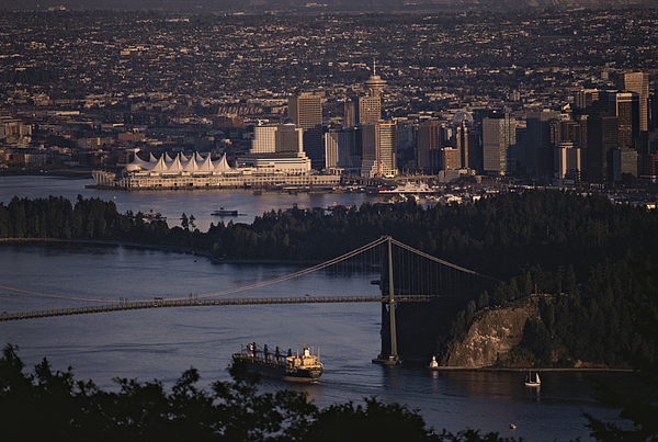 North America Photograph - View Of Vancouver, British Columbia by Annie Griffiths