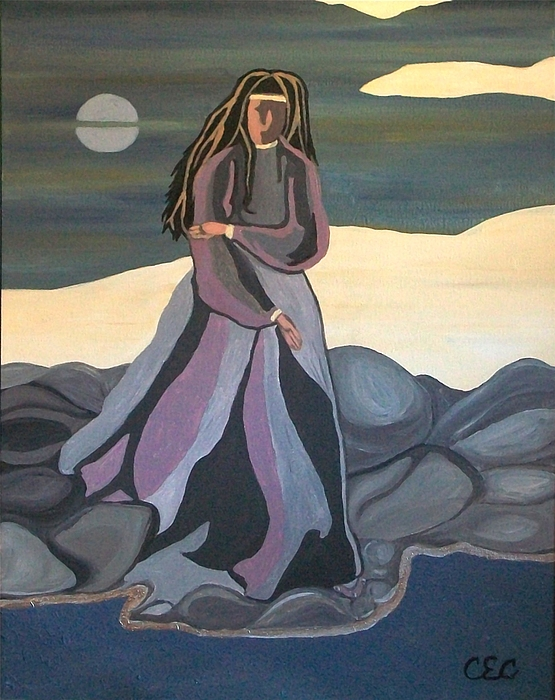 Water Painting - Vigil by Carolyn Cable
