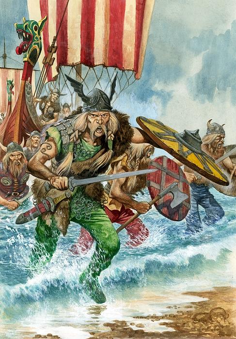 vikings painting by pete jackson