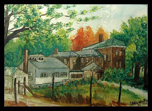 Landscape Painting - Village House by Usha Rai