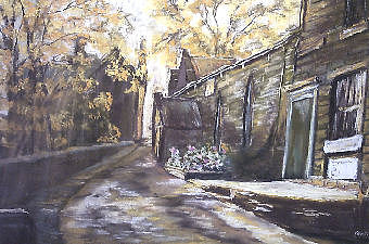 Village In The Uk Painting by Dick Stolp
