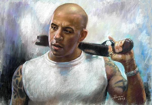 Vin Diesel Pastel - Vin Diesel by Ylli Haruni