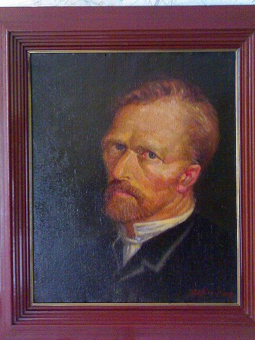 Portrait Painting - Vincent Vangogh- Portrait by Madhusudan Kushary