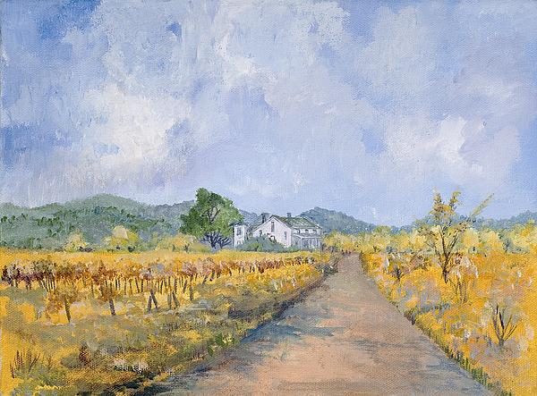 Farmhouse Painting - Vineyard Farmhouse by Virginia McLaren