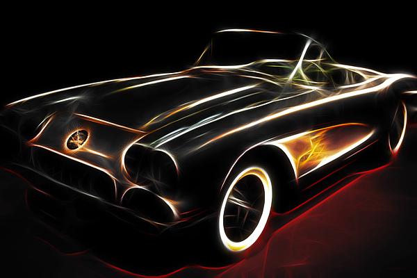 Corvette Photograph - Vintage 1956 Corvette by Wingsdomain Art and Photography