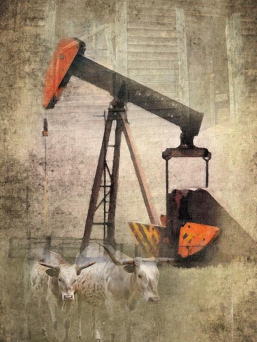 Oil Well Photograph - Vintage Enterprise by Betty LaRue