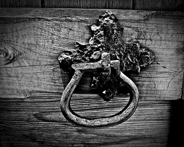 Handle Photograph - Vintage Metal Handle by Perry Webster