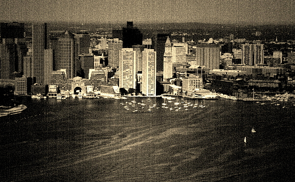 Boston Photograph - Vintage Style Boston Skyline by Marjorie Imbeau