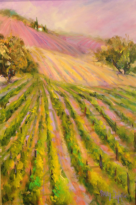 Vineyards Painting - Vintners Delight by Sally Seago