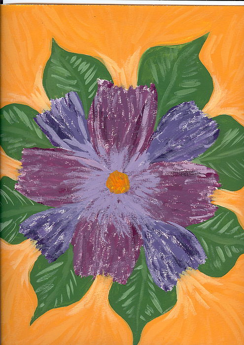Flower Painting - Viola by Laura Lillo