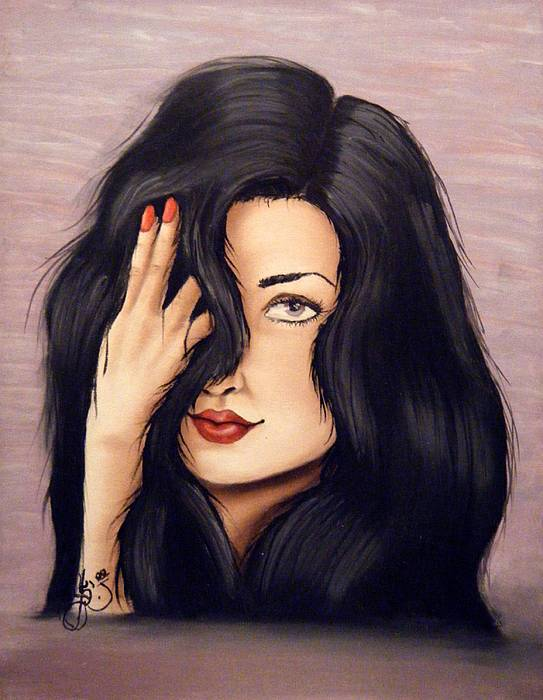 Portrait Painting - Violet by Scarlett Royal