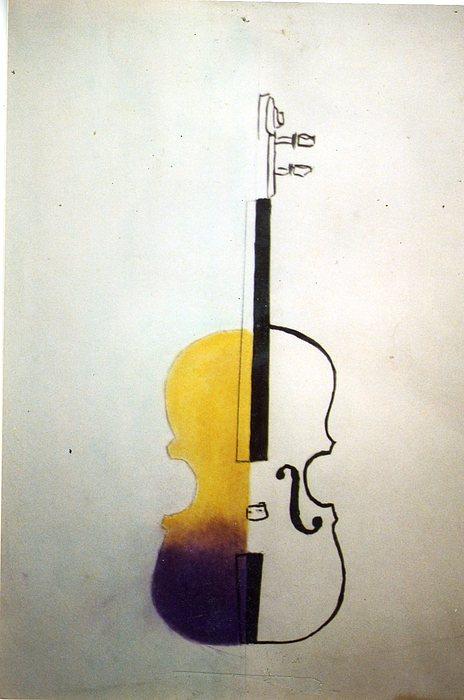 Violin Pastel - Violin by Thomas Armstrong