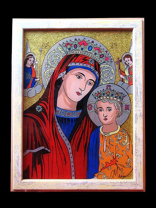 Painting Painting - Virgin Mary And Baby Jesus by Cornelia Murariu