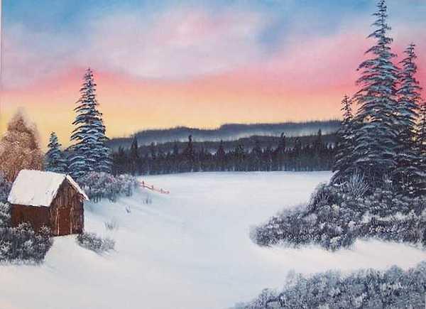 Snow Painting - Virgin Snow  by Sheldon Kiroff