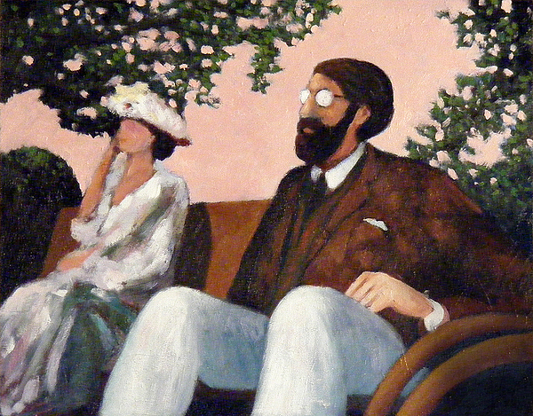 Woolf Painting - Virginia Woolf And Lytton Strachey by Peter Stephen Wise