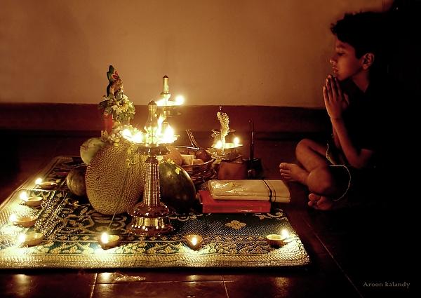 Festival Photograph - Vishu Kani by Aroon Kalandy