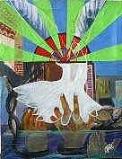 Vitrial Colonial Painting by Yuri Prado