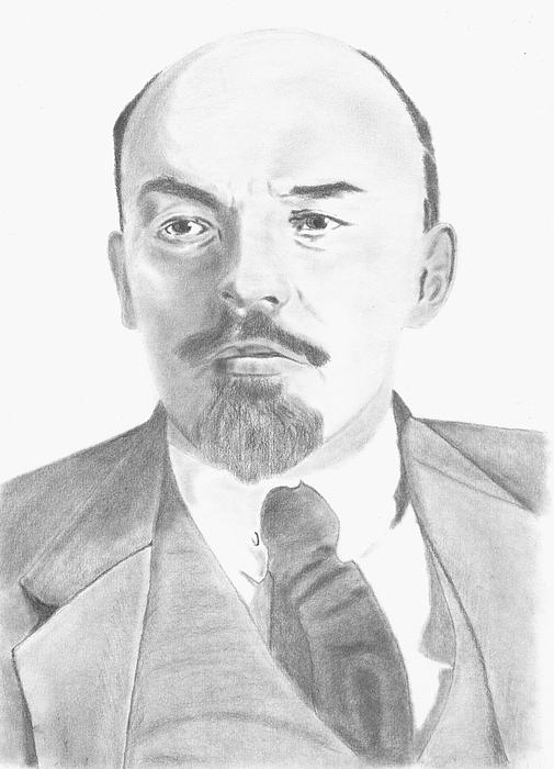 Realistic Drawing - Vladimir Lenin by Kanase Hangputjaikarn