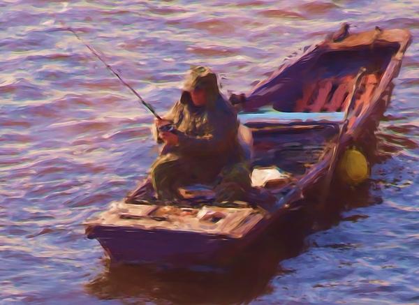 Fishing Painting - Vltava Fishing by Shawn Wallwork