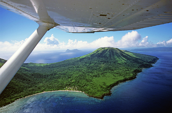 Aeroplane Photograph - Volcanoes Seen From A Plane On The Island Of Efate by Sami Sarkis