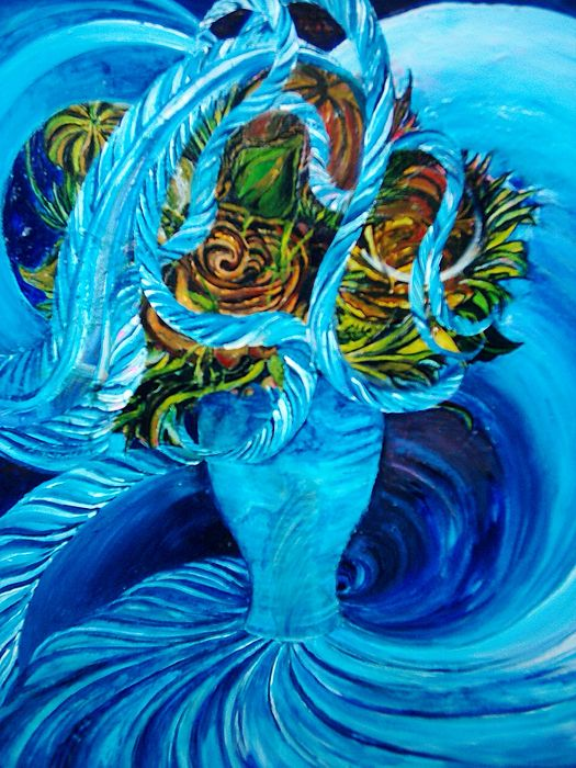 Flowers Painting - Vortex Of Life by Shane Mclaren