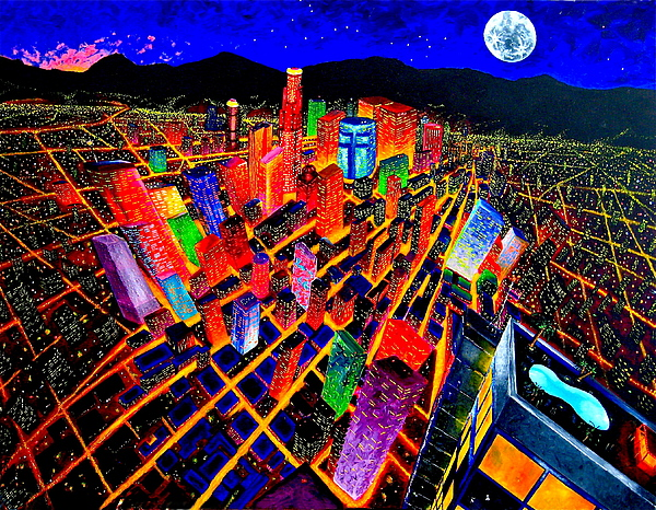 Cityscapes Painting - Vorticity I by Chris Haugen