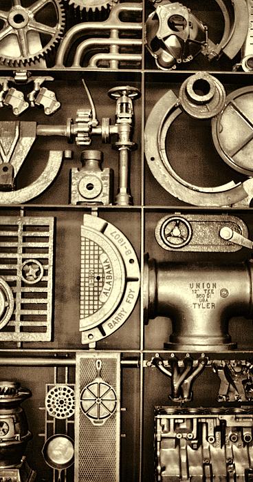 Steampunk Photograph - Vulcan Steel Steampunk Ironworks by Kathy Clark