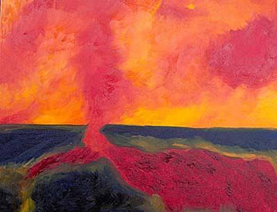 Vulcano Painting by Monica Straniero
