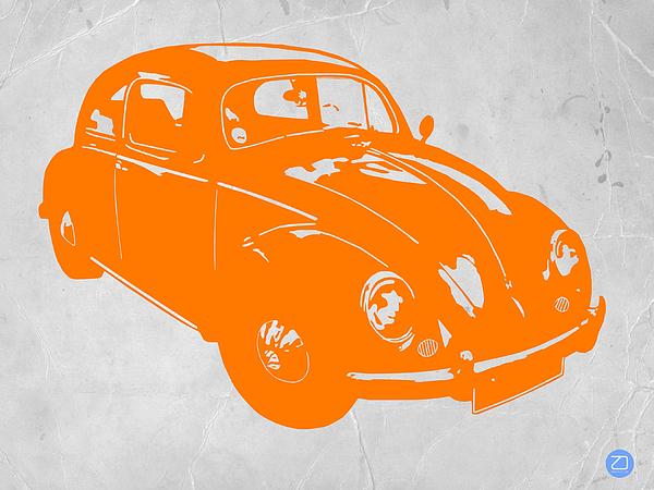 Vw Beetle Photograph - Vw Beetle Orange by Naxart Studio