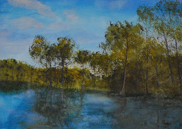 Waccamaw River Painting - Waccamaw Breeze I by Phil Burton