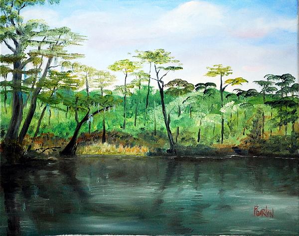 Impressionist Painting - Waccamaw River - Impressionist by Phil Burton