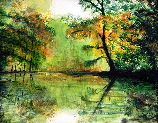 Waccamaw Painting - Waccamaw River Sc by Phil Burton
