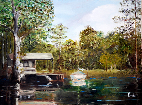 Plein Air Painting - Waccamaw River Sloop by Phil Burton