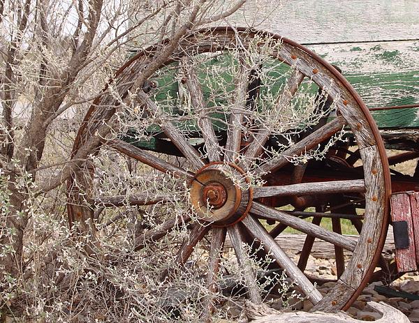 Wagon Photograph - Wagon Wheel by Robert Frederick