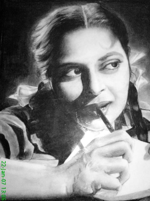 Actress Drawing - Wahida Rahman by Vishal Mane