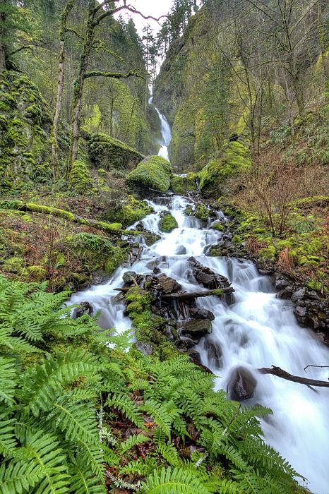 Wahkeena Falls Photograph - Wahkeena Falls Oregon Waterfall by Dustin K Ryan