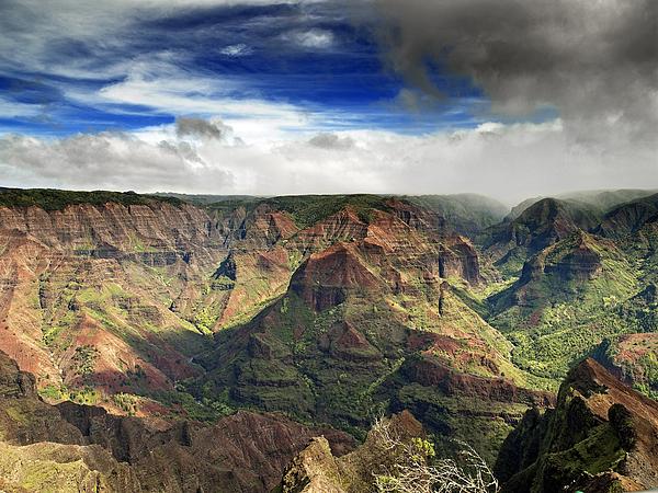 Waimea Photograph - Waimea Canyon Hawaii Kauai by Brendan Reals