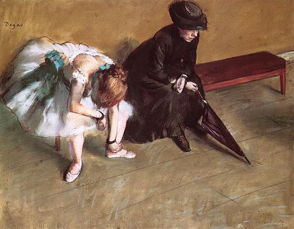 Waiting Pastel - Waiting by Edgar Degas
